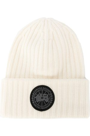 Canada Goose Men Beanies - Ribbed-knit wool beanie