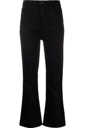 J Brand Bell-flare cropped trousers