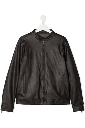 Paolo Pecora TEEN faux leather bomber jacket