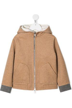 Brunello Cucinelli Hooded cashmere coat