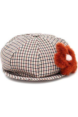 Il gufo Checked baker boy hat