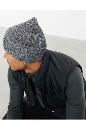 ASOS Oversized beanie in charcoal twist