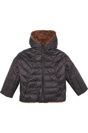 BONPOINT Pluie reversible faux-fur and down coat