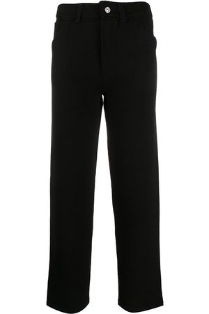 Barrie High-waisted knitted trousers
