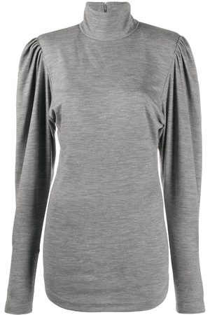 Isabel Marant Puff-sleeve high-neck top