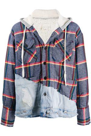 GREG LAUREN Rainbow-stripe hoodie