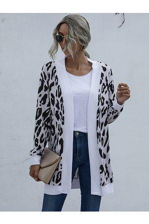 YOINS Casual Leopard Long Sleeves Cardigan