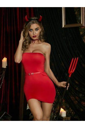 YOINS Sexy Strapless Bodycon Hem Sleeveless Mini Dress