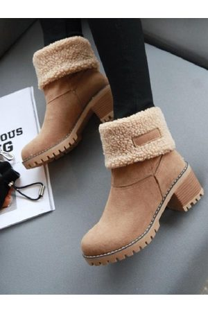 YOINS Casual Chunky Sheer Ankle Boots