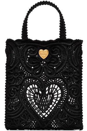 Dolce & Gabbana Beatrice small lace tote bag