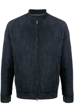 BARBA Zip-up suede jacket