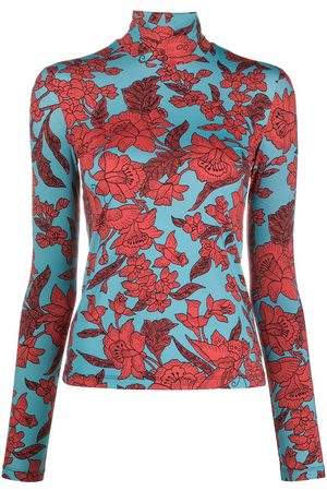 La DoubleJ Floral-print roll neck top