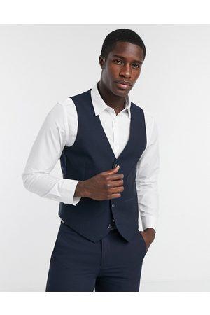 Farah Men Waistcoats - Pin dot slim fit suit waistcoat