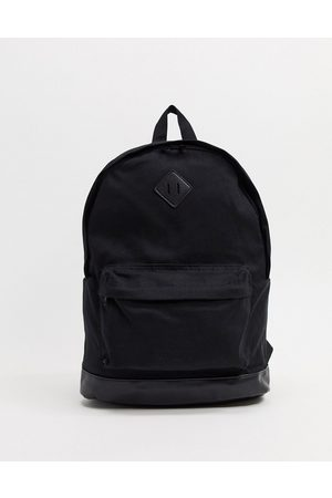 ASOS Backpack in canvas and faux leather