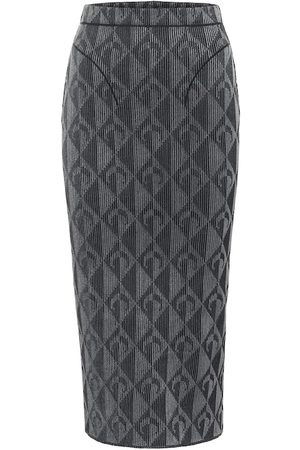 Marine Serre Optical-jacquard pencil skirt
