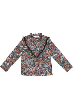 BONPOINT Girls Blouses - Pamela floral cotton blouse