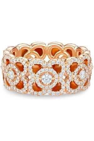 De Beers 18kt rose Enchanted Lotus carnelian and diamond ring