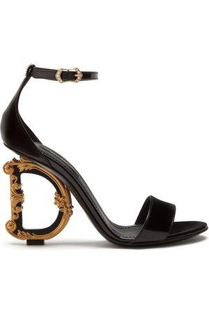 Dolce & Gabbana Baroque calfskin sandals