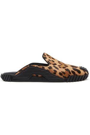 Dolce & Gabbana NS1 leopard-print slippers