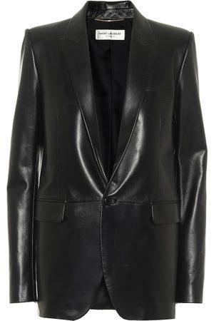Saint Laurent Single-breasted leather blazer