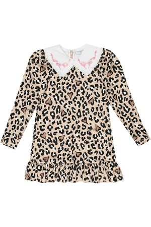 MONNALISA Girls Printed Dresses - Leopard-print stretch-jersey dress