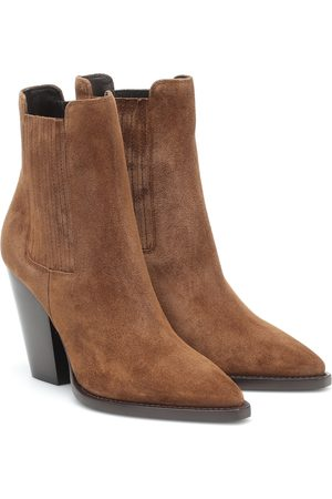 Saint Laurent Women Ankle Boots - Theo 95 suede ankle boots