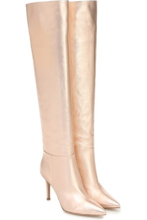 Gianvito Rossi Leather knee-high boots