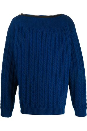 RAF SIMONS Crew neck cable-knit jumper