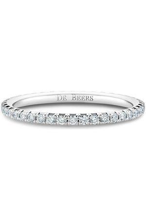 De Beers 18kt white gold diamond Aura Eternity band ring