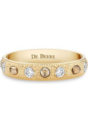 De Beers 18kt yellow small Talisman diamond band