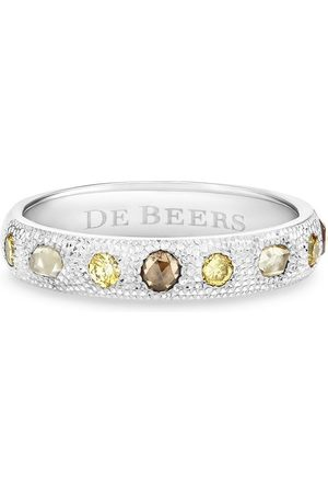 De Beers 18kt white gold Talisman diamond band ring