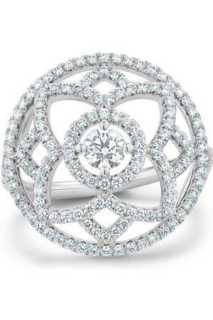 De Beers 18kt white gold Enchanted Lotus diamond medal ring