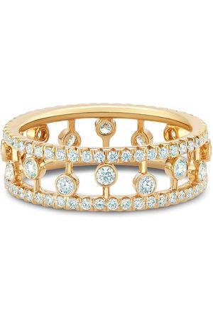 De Beers 18kt yellow Dewdrop diamond band