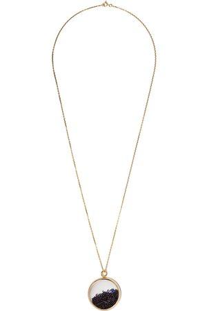 Aurélie Bidermann 18kt yellow Chivor large blue sapphire medallion necklace