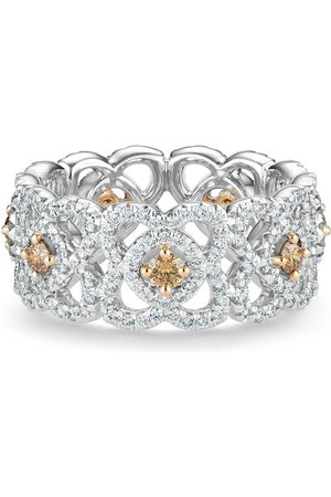 De Beers 18kt white gold Enchanted Lotus diamond band