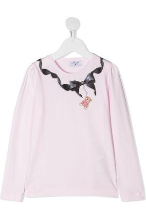 MONNALISA Bow-print long sleeved T-shirt