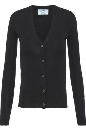 Prada Women Cardigans - V-neck buttoned cardigan