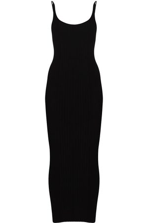 Paco rabanne Ribbed knit buttoned midi dress