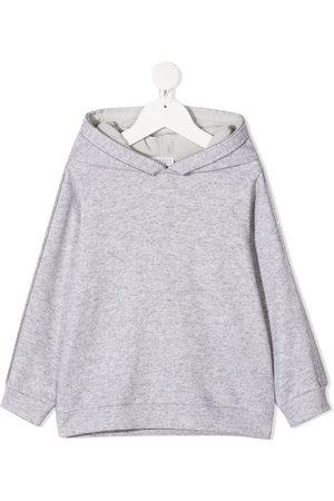 Brunello Cucinelli Girls Hoodies - Beaded-sleeve hoodie