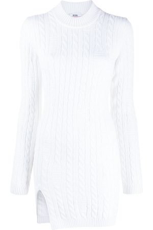 GCDS Cable knit slit mini dress