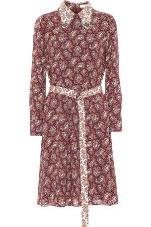 Chloé Floral silk crêpe de chine minidress
