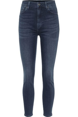 7 for all Mankind Aubrey Slim Illusion Luxe high-rise skinny jeans