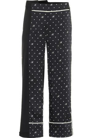 MONSE High-rise polka-dot stretch wool pants
