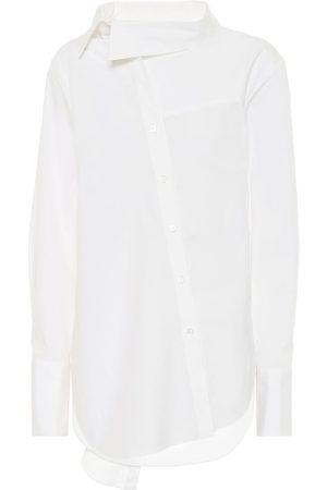 MONSE Women Tops - Tie-neck stretch-cotton shirt