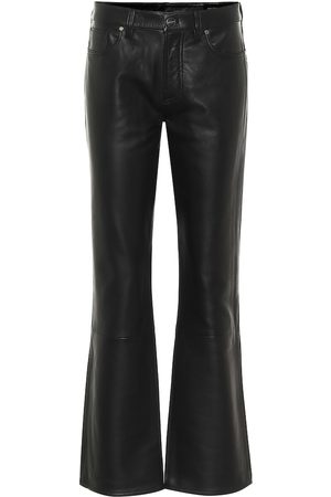Goldsign Mid-rise leather flared pants