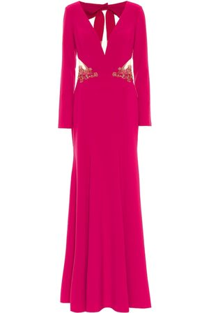 Marchesa Notte Women Party Dresses - Embellished stretch-crêpe gown