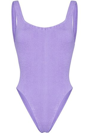 Hunza G Square neck crinkle swimsuit