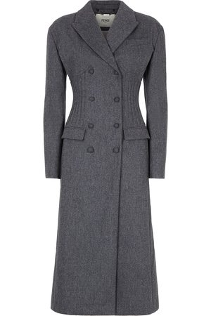 Fendi Corset-effect double-breasted coat