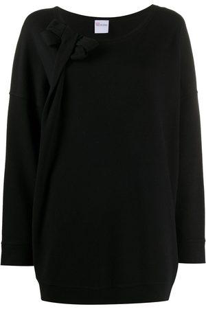 VALENTINO 2000s bow detail oversized sweatshirt