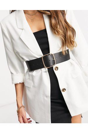 ASOS Wide square buckle waist belt in